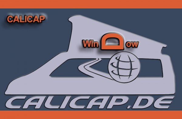 Calicap für elektrische Aufstelldächer weinrot mit 2 Fenstern
